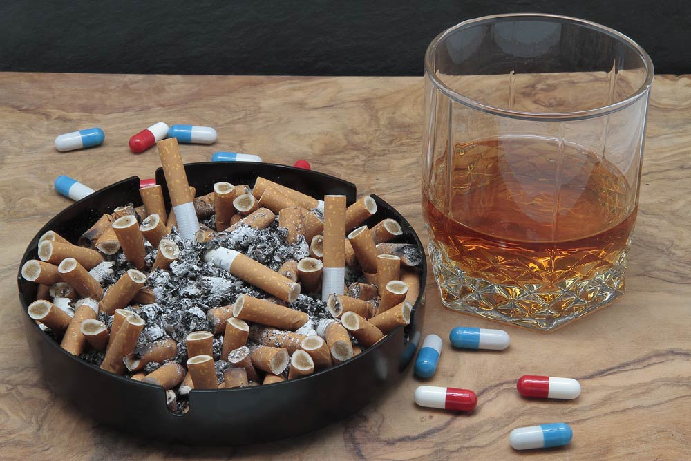 cigarettes alcohol and drugs
